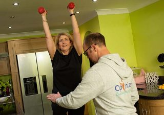 Home Training Session with Optimize Personal Training