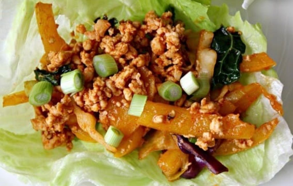 Soy Ginger Chicken Lettuce Wraps Recipe